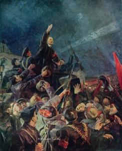 Кибрик Евгений Адольфович (1906-1978) «Ленин приехал! Встреча ленина на Финляндском вокзале 1917 апреля года»