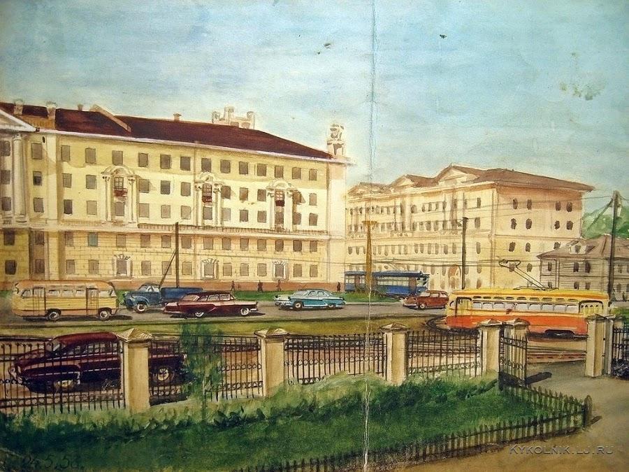 Носаков Владимир Никитич. «Горький. Площадь Лядова». 1958