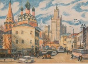 Дехтерева Татьяна Александровна (Россия, 1930) «Нижняя Радищевская улица»