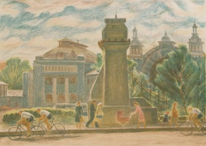 Дехтерева Татьяна Александровна (Россия, 1930) «У Белорусского вокзала». 1980-е