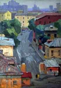 Блякницкий Лев Семёнович (1926-2007) «Московский дворик»