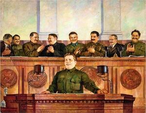 Дмитрий Налбандян «Выступление С.М.Кирова на XVII съезде партии» (1935)