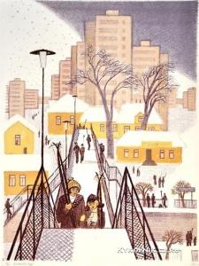 Давыдова Ольга Абовна (Россия, 1943) «На электричку» из серии «Жизнь современного города» 1980