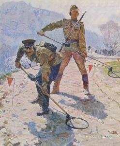 Бельский Михаил Гаврилович (1922-1994) «Весна 1945-го года» 1974