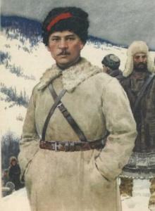 П.П. Постышев. Худ. Л. Котляров. Красные герои Гражданской войны (1964)