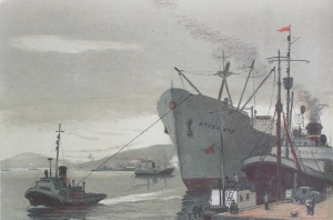 Цельмер Валентин Дмитриевич (1904-1970) «В Арктическом порту» 1959