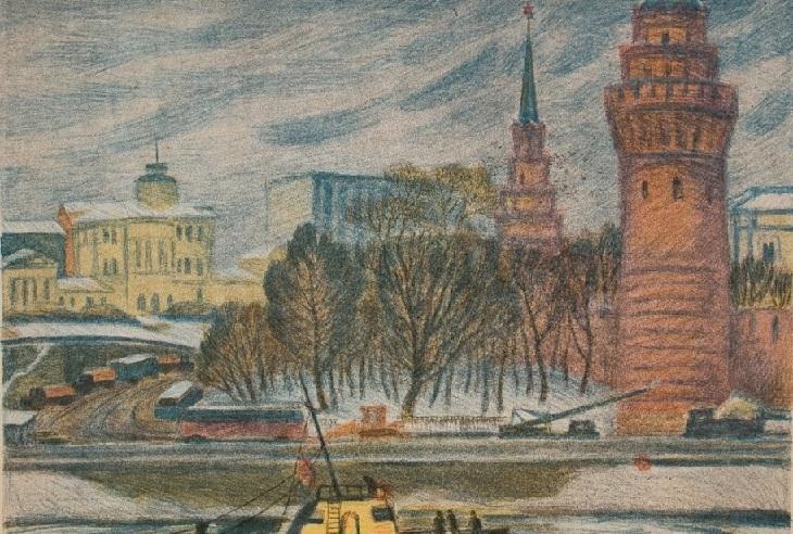 Дехтерева Татьяна Александровна (Россия, 1930) «У Кремлевских башен»