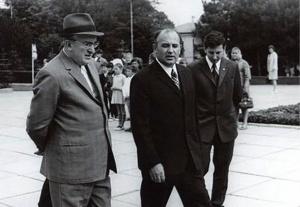 Юрий Андропов и Михаил Горбачев