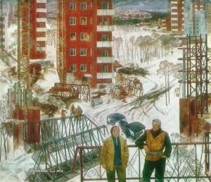 Галунов Евгений Александрович (Россия, 1931-1999) «Новый район Ленинграда» 1974
