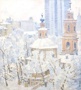 Горлов Николай Николаевич (1917-1988) «Зима в Девятинском» 1980