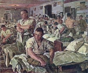 Хныгин Лазарь Алексеевич (1882-1969) «Утро в казарме Красной Армии» 1926