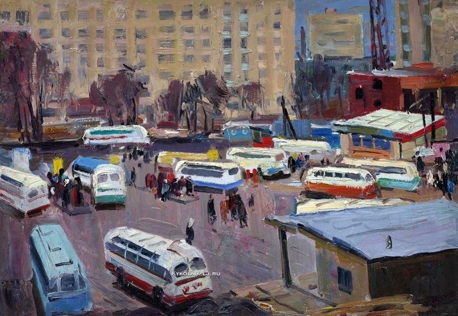 Коваленко Иван Анатольевич (Россия, 1931) «Дождливый день» 1965