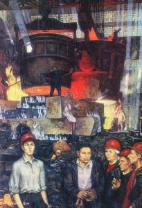 Мосин Геннадий Сидорович (Россия, 1930-1982) «В сталелитейном цехе Уралмаша»