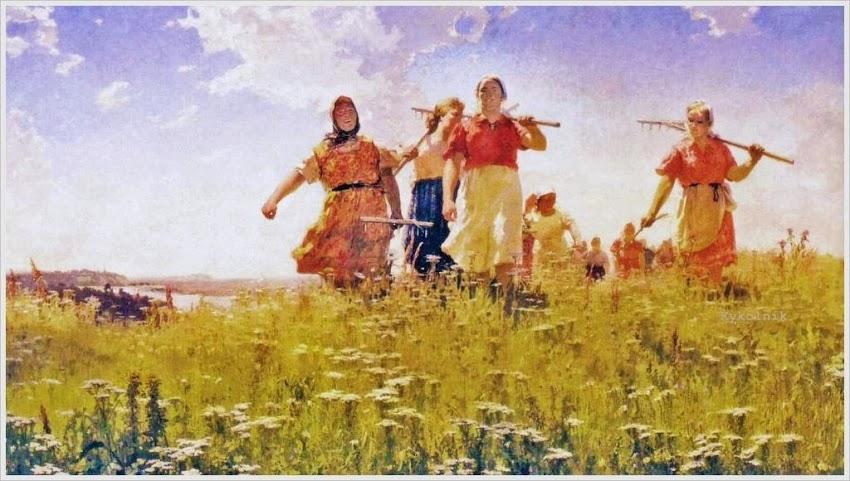 Мыльников Андрей Андреевич (Россия 1919 - 2012) «На мирных полях»