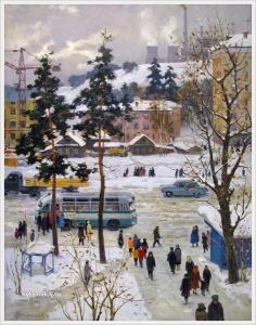 Нурмухаметов Рауль Валеевич (Россия, 1922-1988) «Молодой город» 1965