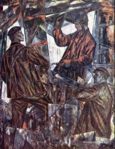 Окас Эвальд Карлович (Эстония, 1915-2011) «На строительстве завода»