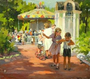 Орлов Борис Герасимович (1925-1981) «В парке»