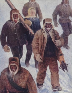 Осипов Афанасий Николаевич (Россия, 1928) «Строители»