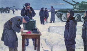 Пархунов Борис Викторович (Россия, 1938) «На танкодроме» 1965