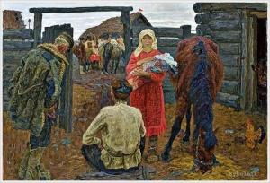«В колхоз». Ткачевы Алексей и Сергей. 1970