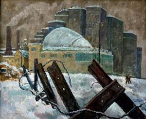 Вейдеманис Эгиль Карлович (1924-2004) «Москва 1941 год» 1979-1980