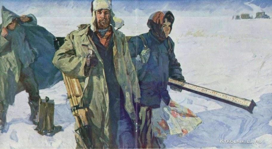 Витковский Лев Иванович (Россия, 1931) «Первые строители»