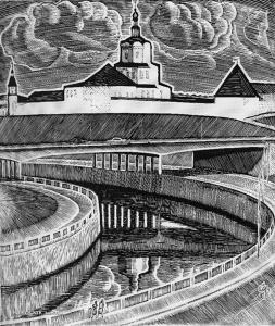 Захаров Гурий Филиппович (Россия, 1926-1994) «Андроников монастырь» из серии «Москва» 1965
