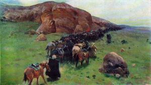М. Греков. На походе. Первая конная. 1927
