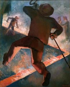 Денисовский Николай Федорович (1901-1981) «Выпуск чугуна»