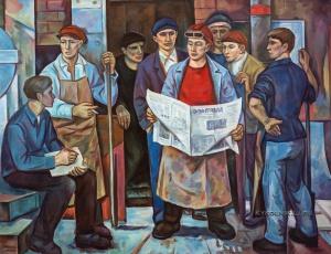 Носков Владимир Александрович (1926-2007) «Обсуждение проекта решений ЦК КПСС» 1982