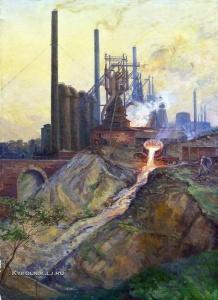 Вольтер Алексей Александрович (1889-1973) «Выпуск шлака. Косогорский металлургический завод» 1939