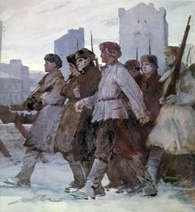 Г. Нисский. На защиту Москвы. Ленинградское шоссе. 1942