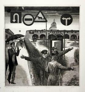 Пименов Владимир Сергеевич (1941) «Момент истины» из серии «Будни милиции» 1982