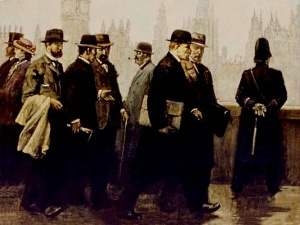 Дж. Вепхвадзе. Ленин в Лондоне. Х/М. 1969 год