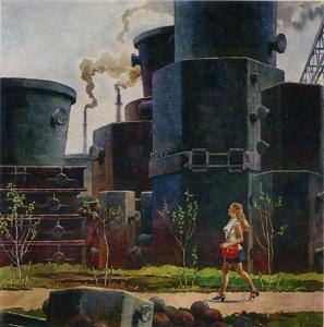 Б.А.Семёнов. Весна заводская, 1975
