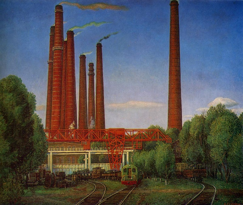 М.В.Гуменных. Заводской двор, 1978