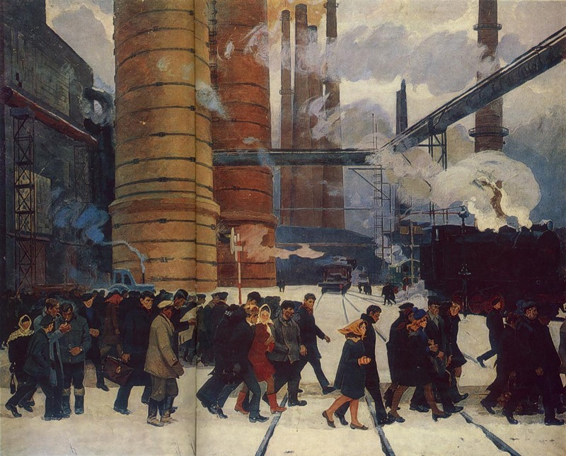 Н.В.Костина. Утро Уралмаша, 1969