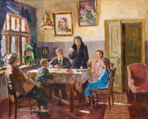 Трофимов Лев Викетьевич (Россия, 1910) «Агитатор у избирателей»
