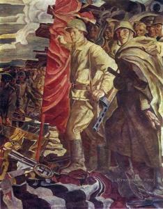 Овечкин Николай Васильевич (1929-1993) «Знамя победы» 1969 фрагмент