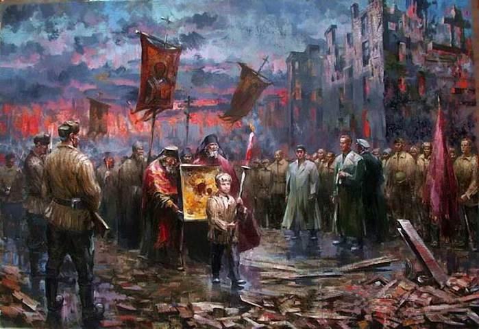 Сталинград 1942. Ход с Иконой А.С. Лысенко