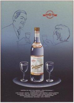 "Советский плакат ""Столичная водка"""