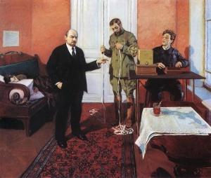 Грабарь Игорь Эммануилович (1871-1960) «В. И. Ленин у прямого провода»