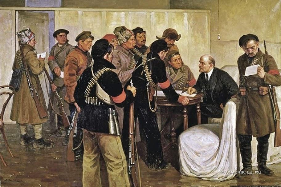 Соколов Михаил Ксенофонтович (1885-1947) «Ленин в Смольном в Октябрьские дни 1917 года»