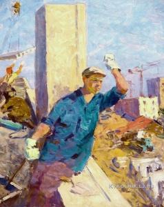 Суворов Владимир Александрович (1922-) «Новостройка» 1955