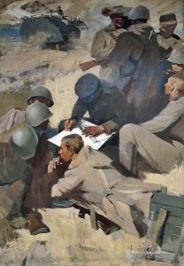 Белявский Альберт Хаимович (Россия, 1934) «На маневрах» 1965