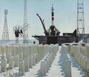 Петров Александр Николаевич (Россия, 1947) «Солнечный день на Байконуре» 1986-1987