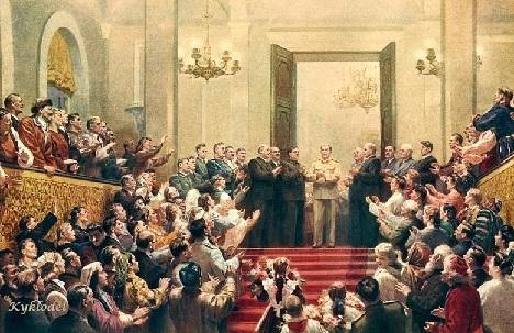 Кугач Юрий Петрович (Россия, 1917) «Великому Сталину слава!» 1950