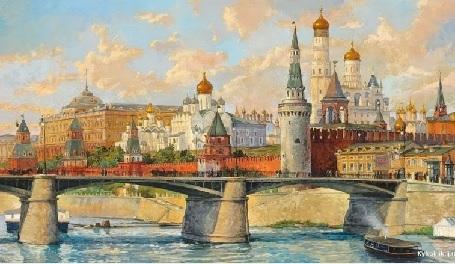Гриценко Николай Николаевич (1856 – 1900) «Вид на Большой Кремлевский дворец»