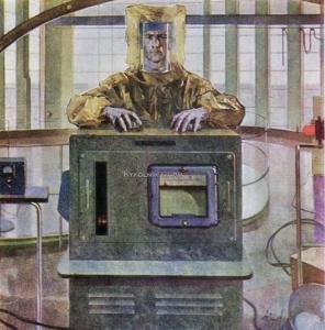 Быков Абрам Зиновьевич (1925-2007) «Наука на страже мира» 1965