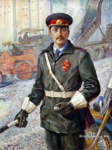 Гритчин Григорий Иванович (Белоруссия, 1924-1995) «Инспектор ГАИ В.Василенко»